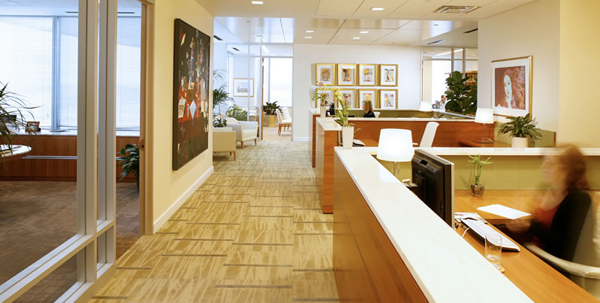 Office interior, Rockville, Maryland, USA