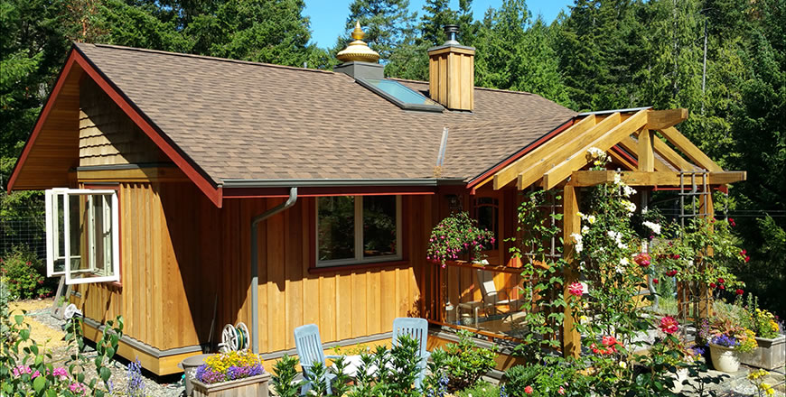 A tiny Vastu home, Salt Spring Island, British Columbia, Canada