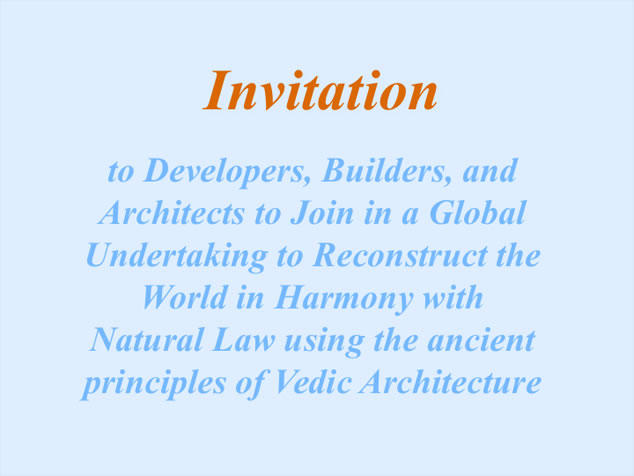 Vastu Invitation to Developers, Builders and Architects