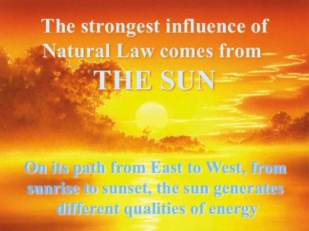 Vastu influence from the Sun