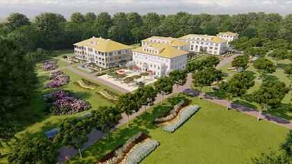 Proposed apartments at Maharishi European Research University, Netherlands